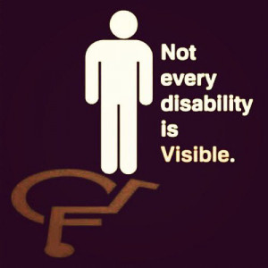 Not every disability is visibleChronic Pain, Chronic Illness, Autism ...