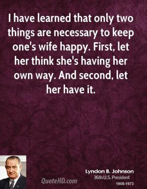 President Lyndon B Johnson Quotes