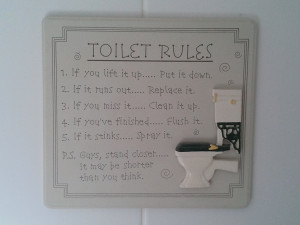 Funny Toilet Rules Picture
