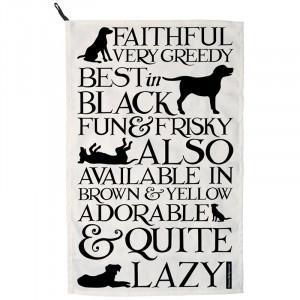 Emma Bridgewater Black Toast Labrador Tea Towel