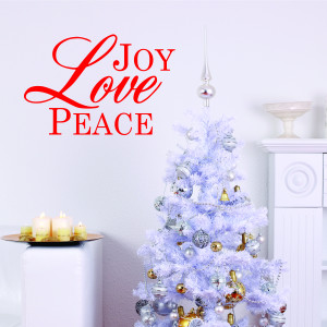 Joy Love Peace Wall Quotes™ Decal