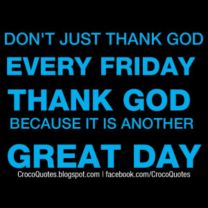 Thank God Its Friday Quotes Facebook