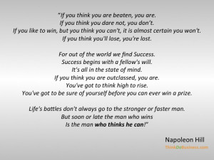 Napoleon Hill on The Power of Beliefs