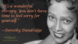 Quote of the Day: Dorothy Dandridge on Work