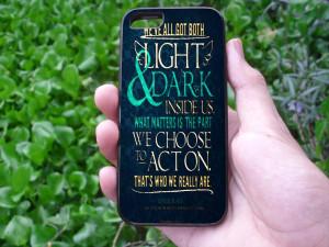 ... Case Light & Dark Sirius Black Quote Phone Case Back Cover 5C