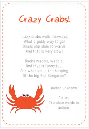 Crazy Crabs Poem | Free EYFS & KS1 Resources