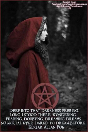 Poe #Wiccan this was my high school quote