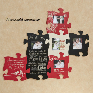 Home > Love and Marriage Photo Frame Puzzle Piece Wall Art