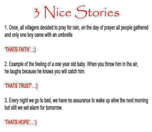 short stories on faith ,trust and hope