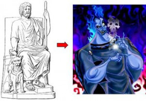 Left : Hades, from Classical Mythology . Animal Lover.