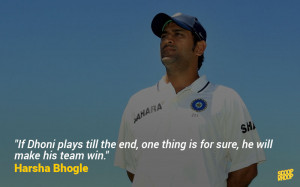 20. Harsha Bhogle always says it well and says it right.