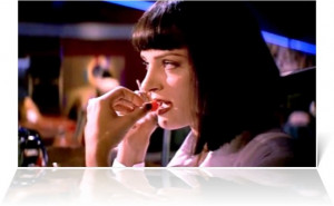 Uma Thurman as Mia Wallace in Pulp Fiction (1994)