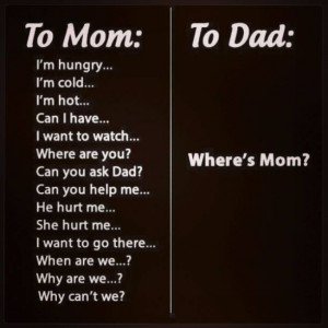 Questions to mom and to dad