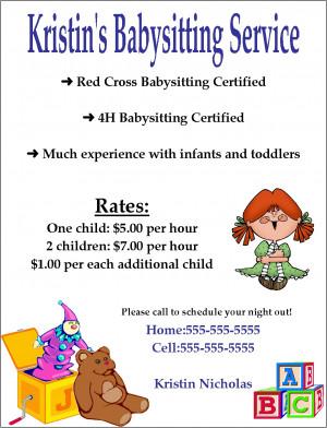 babysitting+flyer+examples