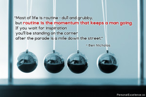"""... corner after the parade is a mile down the street."""" ~ Ben Nicholas"""
