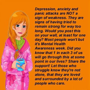 Depression, anxiety and panic attacks are not ...