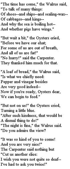 The Walrus and The Carpenter Lewis Carroll #poetry annabelchaffer.com ...