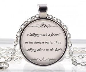 Friendship Necklace - Best Friend Jewelry - Friendship Quote Pendant ...