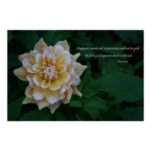 yellow_dahlia_flower_blossom_happiness_quote_print ...