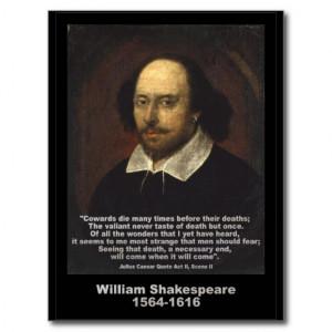 Shakespeare Quote ~ Julius Caesar Post Cards