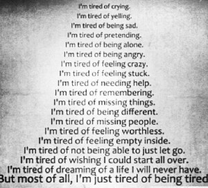 Tired Of Trying.