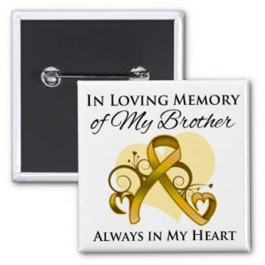 In Memory of My Brother - Appendix Cancer Pinback Buttons