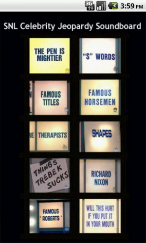 Celebrity Jeopardy Soundboard- screenshot