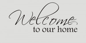 5pcs/lot WELCOME TO OUR HOME Vinyl Wall Quote Decal Family(China ...