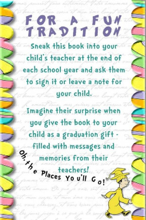 , poems and/or inspirational sayings at the end of each school year ...