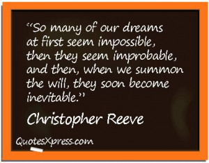 Christopher Reeve-- a complete inspiration