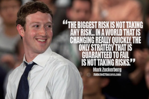 Mark Zuckerberg Entrepreneur Picture Quote For Success