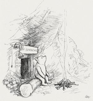 shepard s original winnie the pooh drawings