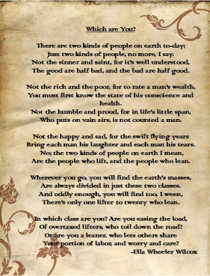 Be a Lifter, Not a Leaner (grandpa's favorite poem)