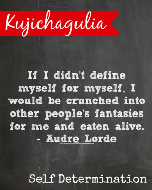 Kwanzaa Kujichagulia means self determination