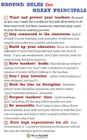 Great Principals. If only they followed #4