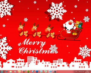 free christmas desktop themes full christmas desktop
