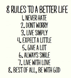 ... tags for this image include: life, love, rules, smile and quotes