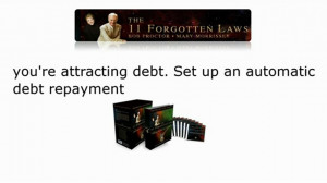 You're Attracting Debt Set Up An Automatic Debt Repayment