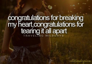 Congratulations quotes and sayings breaking heart tears
