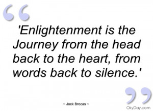 enlightenment is the journey from the