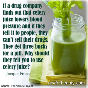 celery juice lowers blood pressure