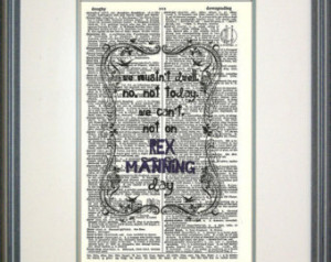 Rex Manning Day Typography Print, E mpire Records, Cult movies, 90's ...