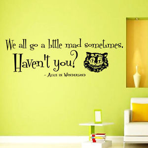 Vinyl-Wall-Decals-Cheshire-Cat-Quote-Alice-in-Wonderland-Sayings-Decal ...