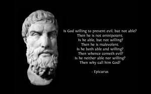 Epicurus quote wallpaper