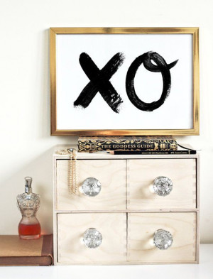 ... & Kisses - Love Quote - Black and White - Romantic on Etsy, $28.15
