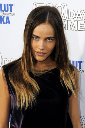 Isabel Lucas Ombre Hair