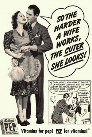 Take a look at this mid-20 century vintage ads. It is true that today ...