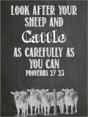 Inspirational Cattle and Sheep quote.