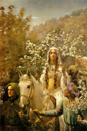 Hail to the Maiden of Spring, the dawning of the year! Bring freshness ...