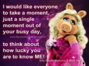 Miss Piggy has been fabulous for 40 years! Long may she reign over us.